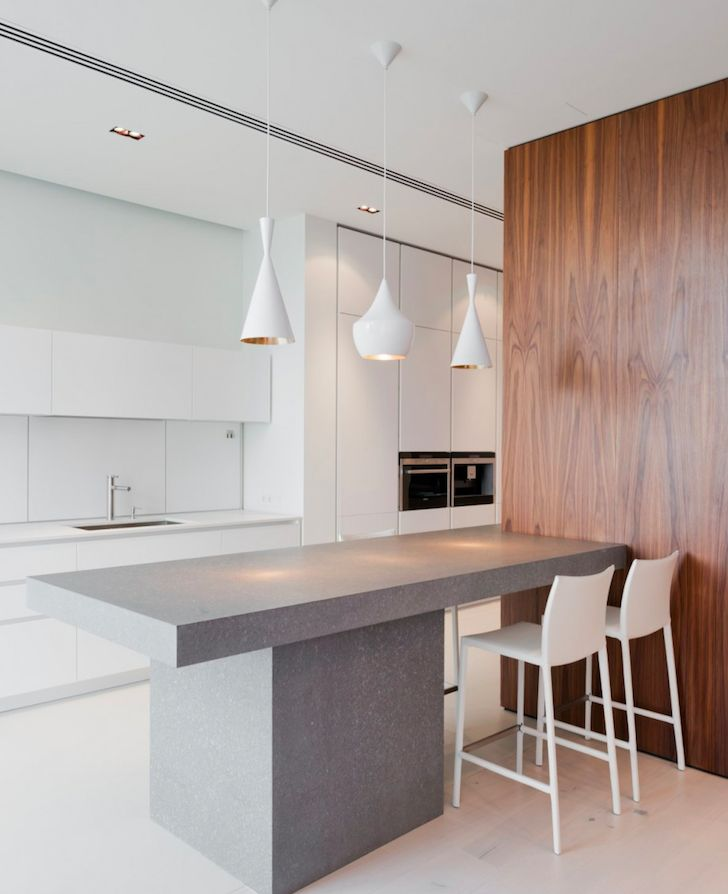 Minimalist Kitchen In New Arbat Apartment By Sl Project Minimalist Kitchen Minimalistspace