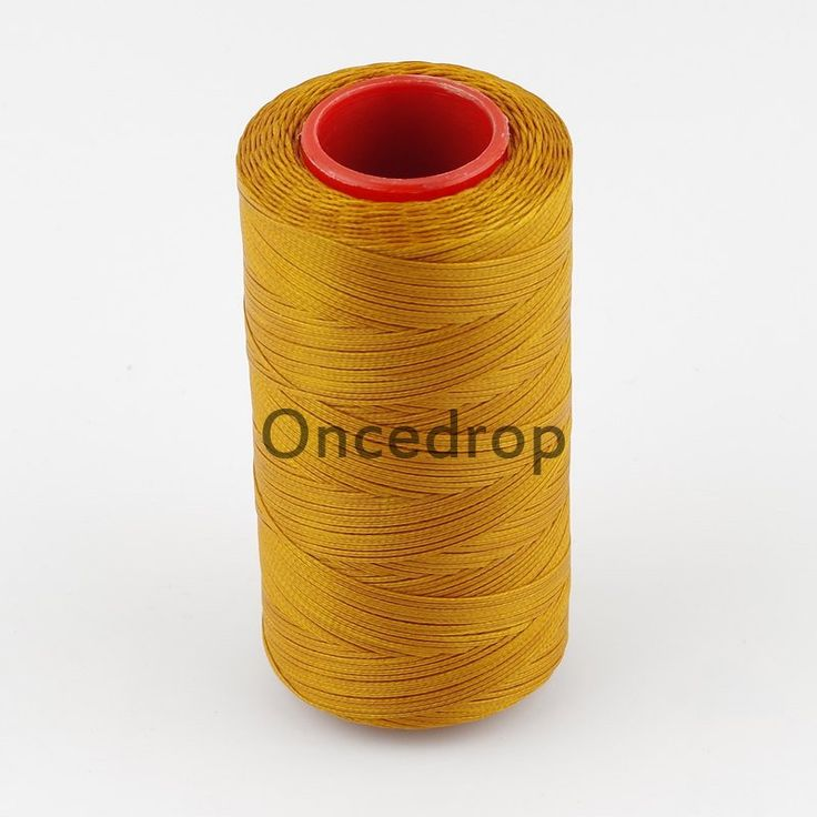 Yellow Brown 250 Meter 1mm Waxed Wax Thread Cord Sewing Craft for DIY Leather Hand Stitching 8