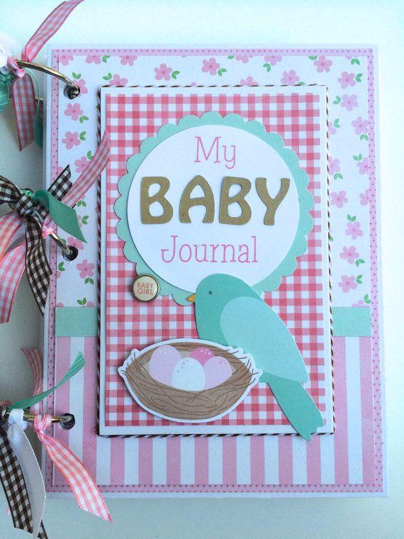 Baby Girl Journal Mini Album Kit or Premade by ArtsyAlbums on Etsy, $35.99