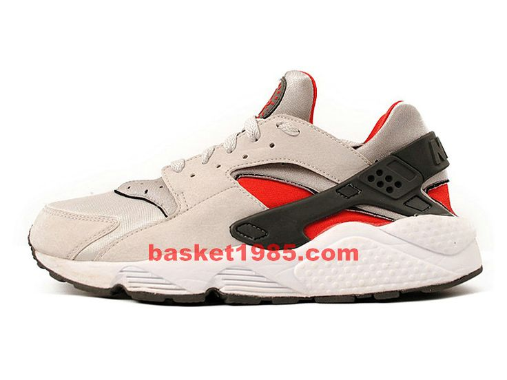 Nike Air Huarache-Chaussures Nike Running Pas Cher Pour Homme Beige Noir  Rouge 318429-