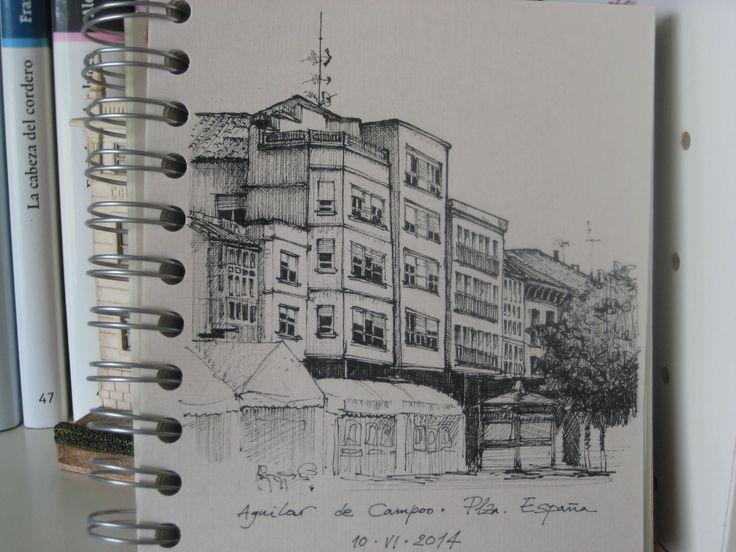 Plaza de España. Aguilar de Campoo, Palencia.