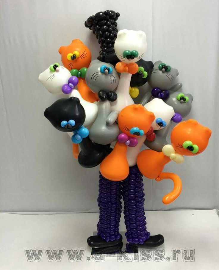 1000 images about balloon ideas on pinterest for Balloon decoration for halloween