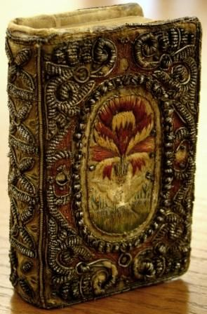 """~ Beautifully Embroidered Cover On """"The Book Of Psalms"""" ~ (1639) Ohio State University Library"""