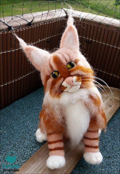 """Montecore""+-+Maine+Coon+Kater+Katze+aus+Filz+von+CatSiMo+Katzenshop+auf+DaWanda.com"