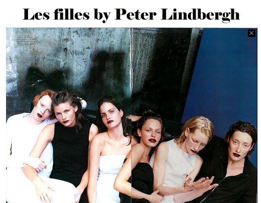 Karen Elson, Jane, Missy Rayder, Rachel Roberts, Kirsten Owen and Marie Sophie Wilson by Peter Lindbergh