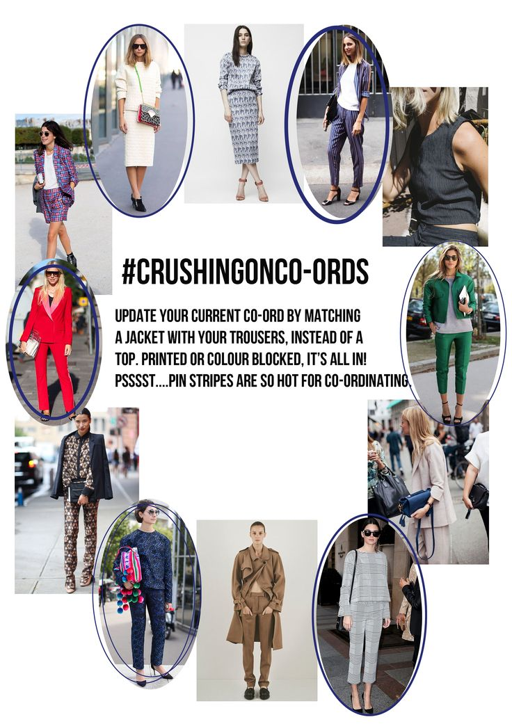 Crush with us and get inspired by our #crushingonco-ords trend edit! #coord #suit #streetstyle #trend #trendedit
