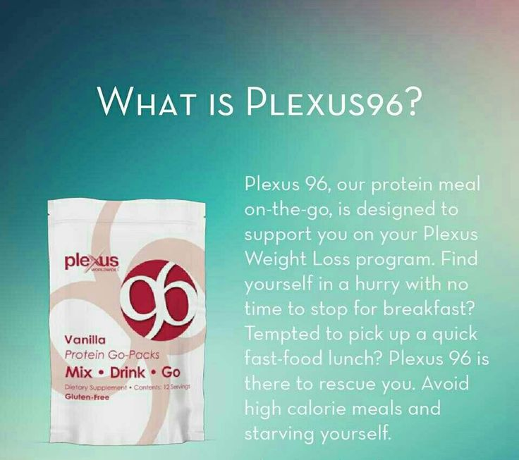 Plexus 96 is a delicious protein shake designed to deliver healthy sustained energy. With 15 grams of high-quality whey protein,  it will leave you feeling full and will help you avoid making bad choices about high calorie meals. Available in vanilla and chocolate.