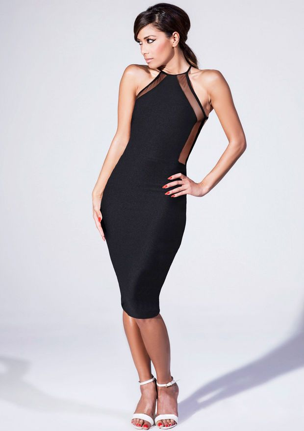 Nicole Sexy Sleeveless Fashion Bodycon Party Cocktail Evening Dress