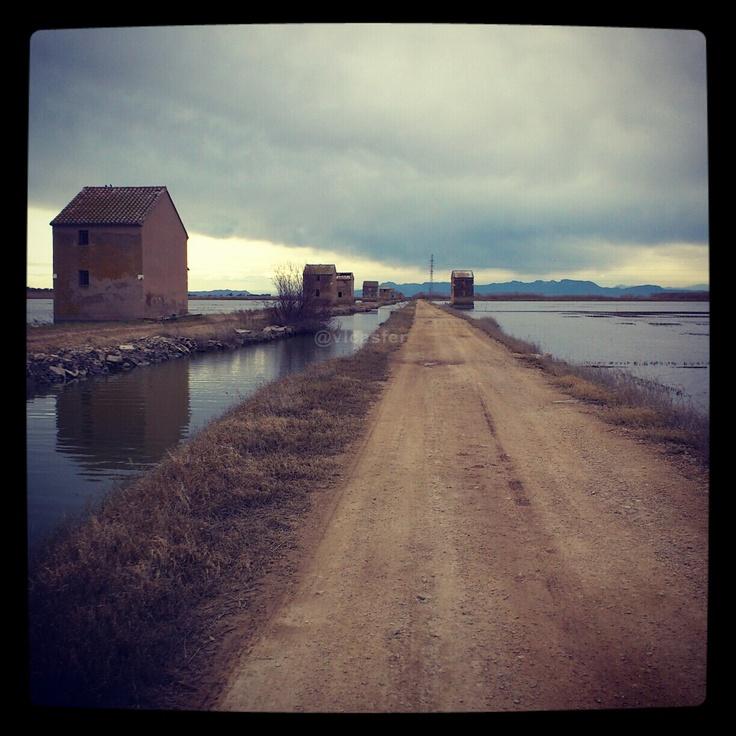 Casetas para mantenimiento de aperos agrícolas en el camino de Romero. A estas casitas sólo se puede llegar en barca durante la época de inundación