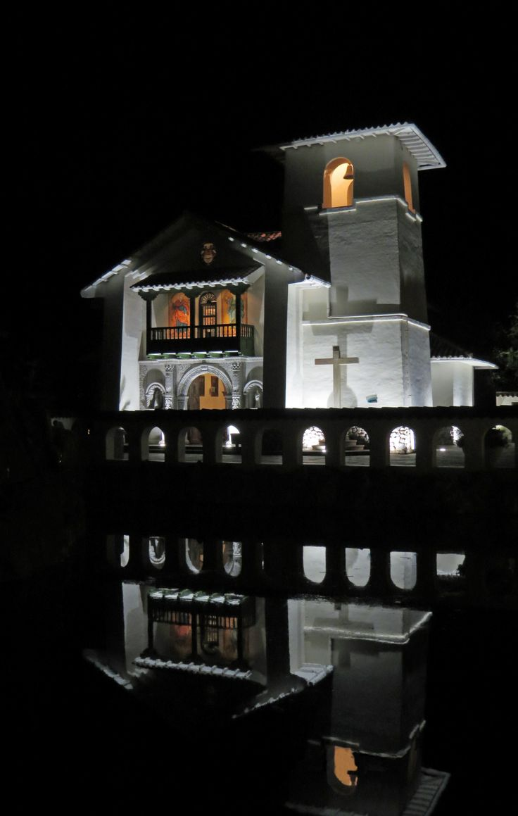 A church in the Sacred Valley on a very calm night.