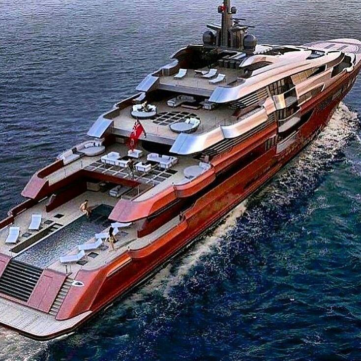 Red Mega Yacht Gentlemans Essentials Stewart Irvine