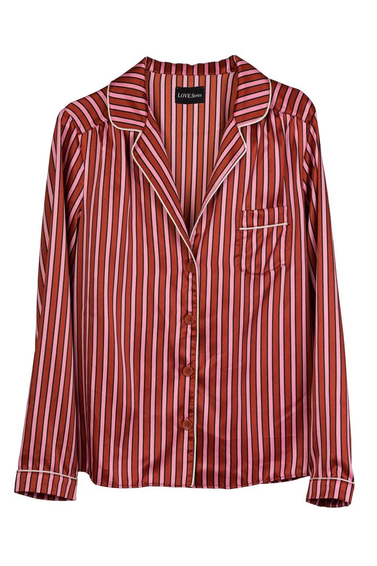 Silky striped blouse