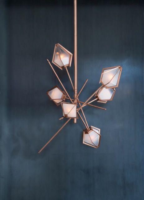 Small Harlow Chandelier in Copper by Gabriel Scott
