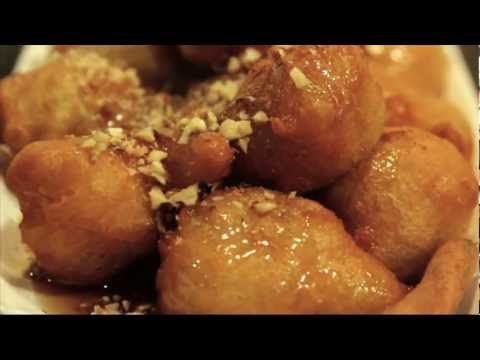 LOUKOUMADES: homemade donuts with honey and cinnamon syrup....pure madness!!!