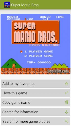 """Emulator Game List Database provide game lists of the """"good ol' days"""" of gaming on systems like Nintendo, Atari, Commodore 64, CPS1, CPS2, Gameboy Advance(GBA), Gameboy Color(GBC), MAME, Neo Geo, Nintendo 64, Nintendo DS, Nintendo GameCube, Sega games, Sega Game Gear, Sega Genesis, Sega Master System, Sony PlayStation, Super Nintendo and PC Engine - TurboGrafx16.<br>This is a must-have app if you play emulator games.<br>Popular Games included: Pokemon, Super Mario, Contra, Punch-Out, Final…"""