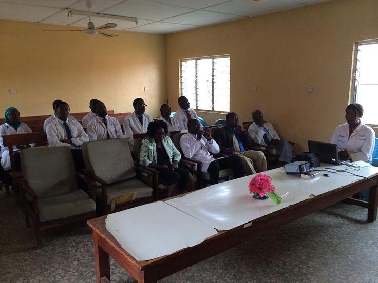 Resident doctors at a session at Obafemi Awolowo University Teaching Hospital, Ile Ife, Nigeria (2)