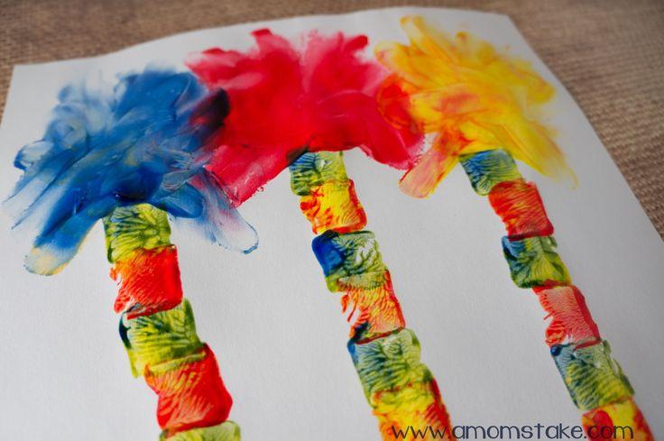 lorax art | Lorax Trees Finger Painting Art
