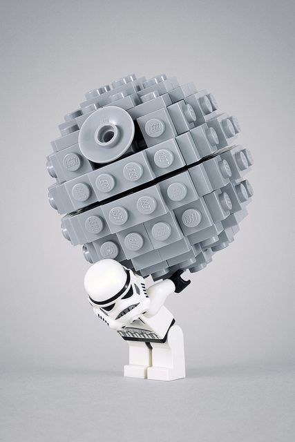 Atlas Stormtrooper, doomed to carry the weight of the Death Star for all eternity... IN LEGO FORM.