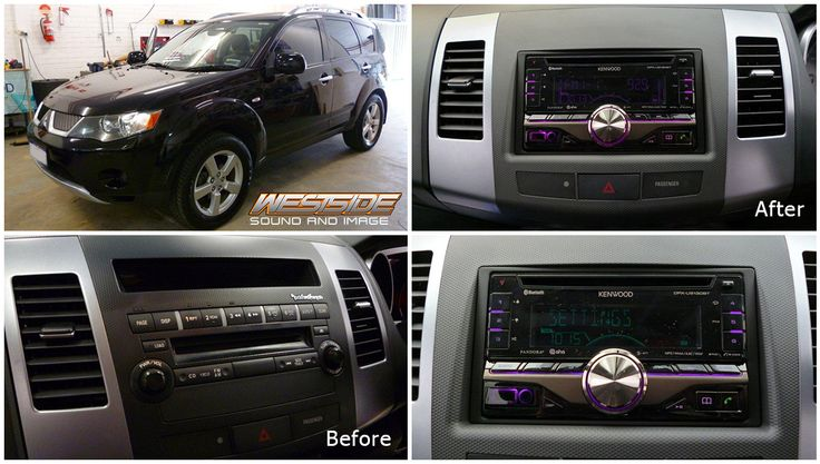 We fitted this #Mitsubishi #Outlander VRX with a #Kenwood DPX-U5130BT CD/USB/BT receiver + Rockford OEM interface module + steering wheel control interface. We think it looks much sleeker, what do you think?