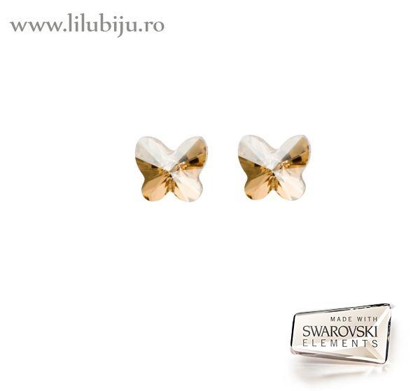 Cercei Swarovski Elements™ - Fluturi Aurii by LiluBiju (copyright)