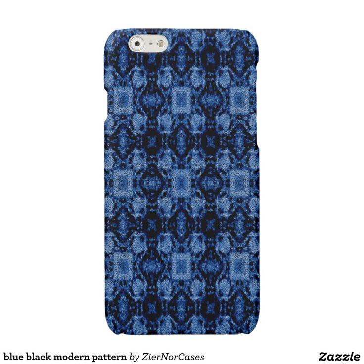 blue black modern pattern glossy iPhone 6 case