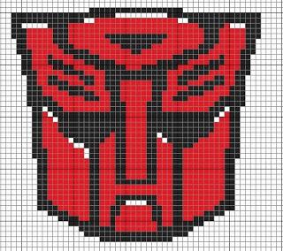 Transformers perler bead pattern