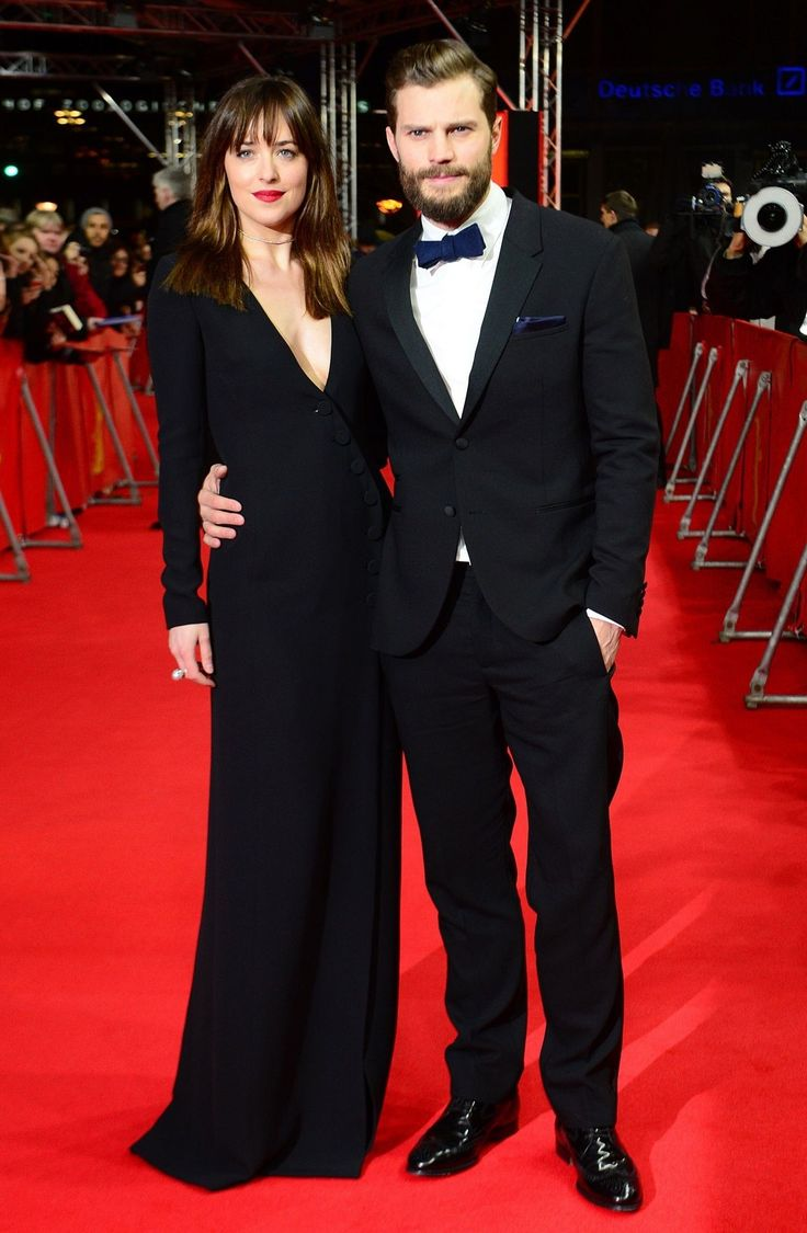 Premiere time: Stars of the film Dakota Johnson and Jamie Dornan attended the world premiere // fifty shades of grey