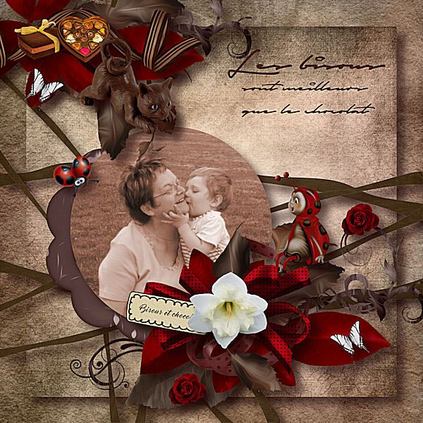 "Un pack de templates ""Grand Mother's Day"" by Flomelle et Bijou7 http://www.paradisescrap.com/…/12386-templates-collab-cu-lo…  Photo   Renée Garlet"