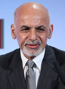 Ashraf Ghani Ahmadzai (Pashto/Persian: اشرف غني احمدزی‎‎, born 19 May 1949) is the current President of Afghanistan, elected on 21 September 2014. An anthropologist by education, he previously served as finance minister and the chancellor of Kabul University. Wikipedia