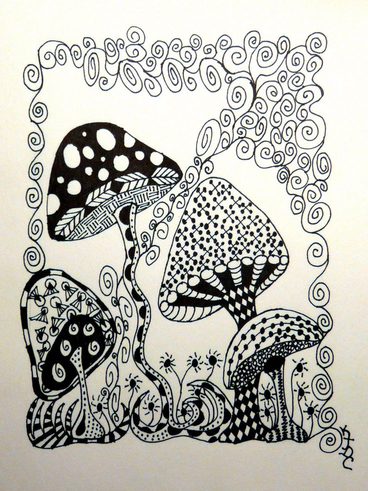 KIMagination: No eraser in zentangles