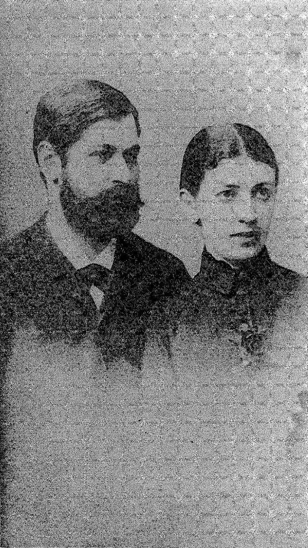 Wedding photograph of Sigmund Freud and Martha Bernays, 1886.