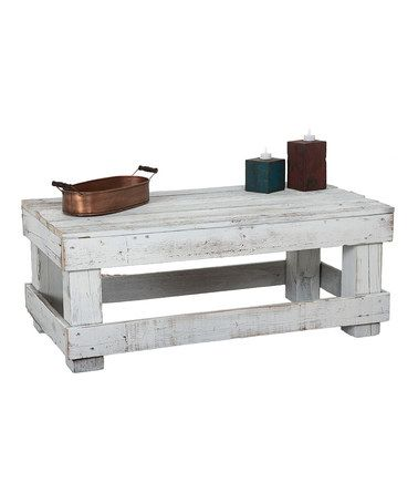 distressed wood coffee table square grey white with storage