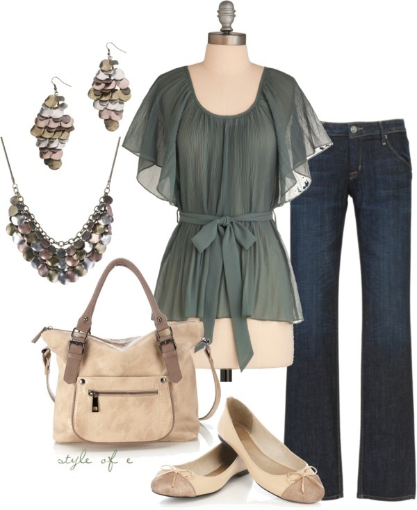Green and Neutrals, created by styleofe on Polyvore: Dreams Closet, Style, Girls Generation, Clothing, Cute Outfits, Memories Tops, Girls Tunics, Outfits Ideas, Girly Girls