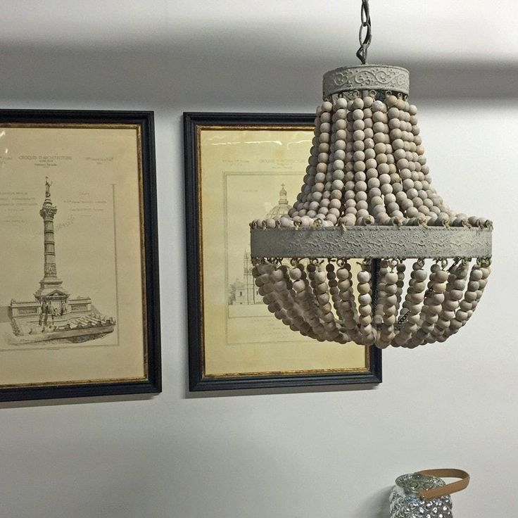 Beaded Vintage Style Pendant Light