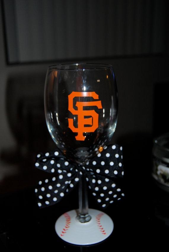 SF Giants wine glass, now if anyone can tell me what cricut cartridge can print the SF logo!
