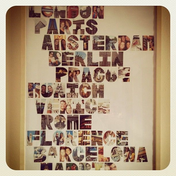 A wall collage to remember a trip  LOVE this idea. 53 best images about Idea s for Emma s bedroom on Pinterest