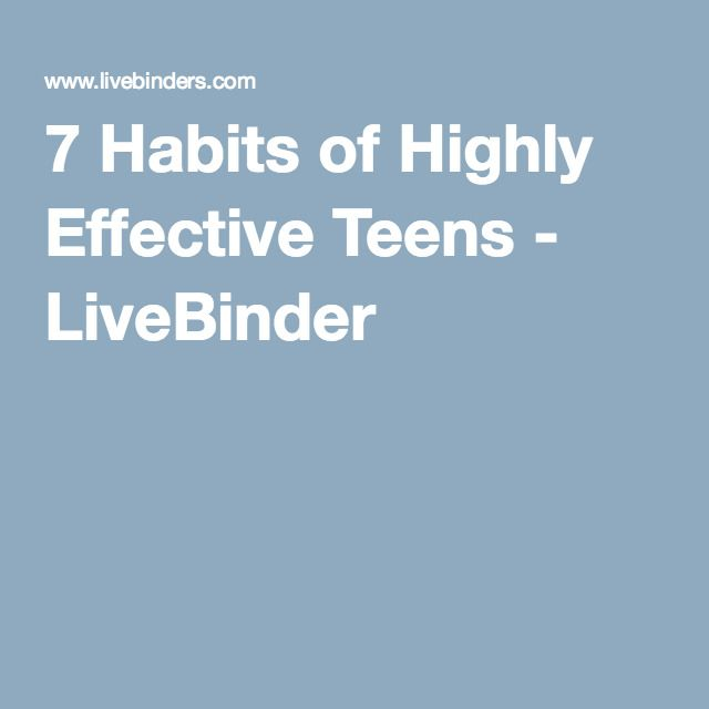 the 7 habits of highly effective teens Today's book is by sean covey, the son of the famous author stephen covey of 7 habits of highly effective people fame  7 habits of highly successful teens.