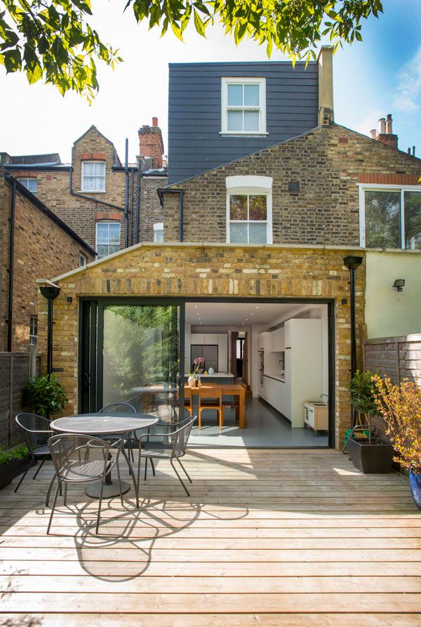Side Return Extension and Loft Conversion on a Victorian Terraced House in Highbury, N5, Greater London, Sliding Glass Patio Doors, All-Glass Roof, Velux Roof Light, Flat Roof, Structural Glazed Roof, Wraparound Extension, L-Shaped Extension, Patio Sectio