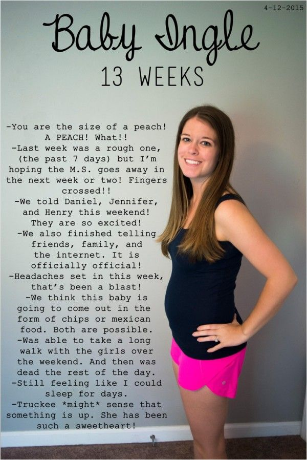 13 weeks pregnant