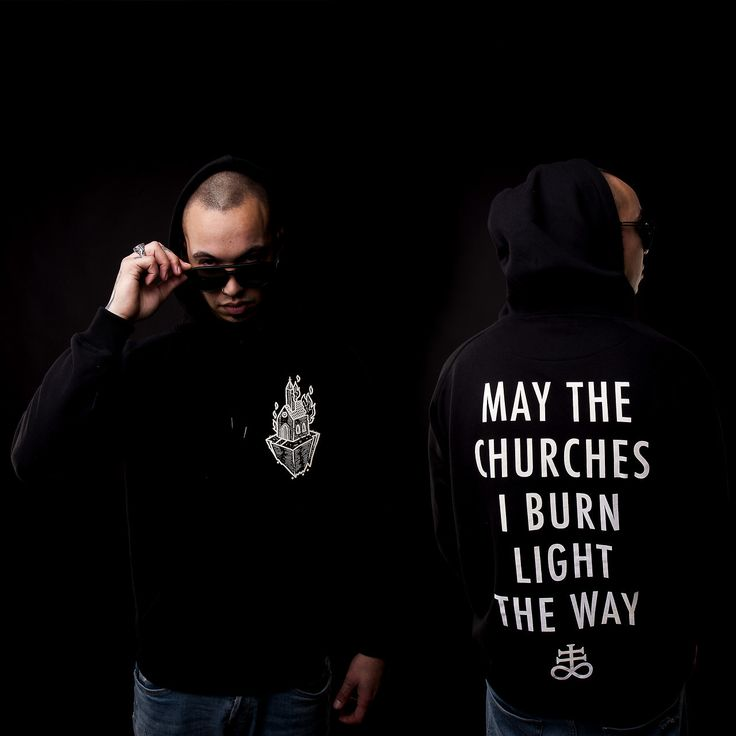 "MAY THE CHURCHES I BURN LIGHT THE WAY⛪ ""Light The Way"" Hoodie  Available at www.crmcclothing.co 