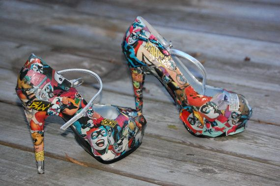 Hey, I found this really awesome Etsy listing at http://www.etsy.com/listing/111063933/custom-comic-book-covered-high-heels