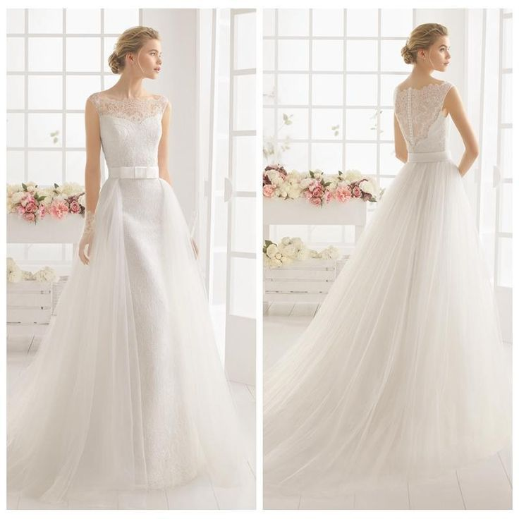 2016 Wedding Dress With Detachable Train Tulle And Lace Brial Gowns Sexy Wedding Dresses White Lace Plus Size Wedding Dresses Wedding Dresses Debenhams Wedding Dresses Prices From Internationalwedding, $130.66| Dhgate.Com