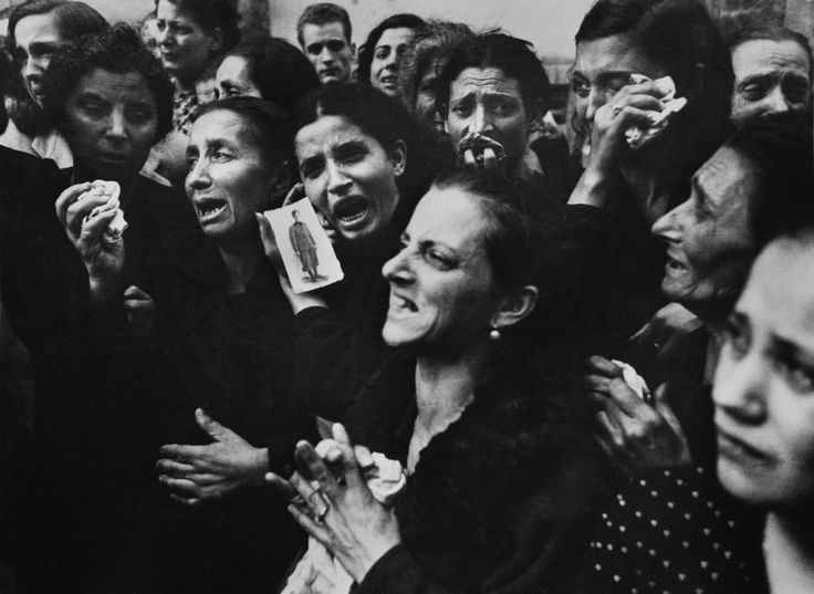 ITALY. 1943. Naples. Funeral of 20 teenage partisans of the Liceo Sannazaro, in the Vomero district.