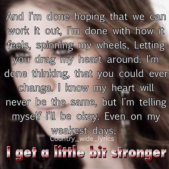 Stronger by Sara Evans