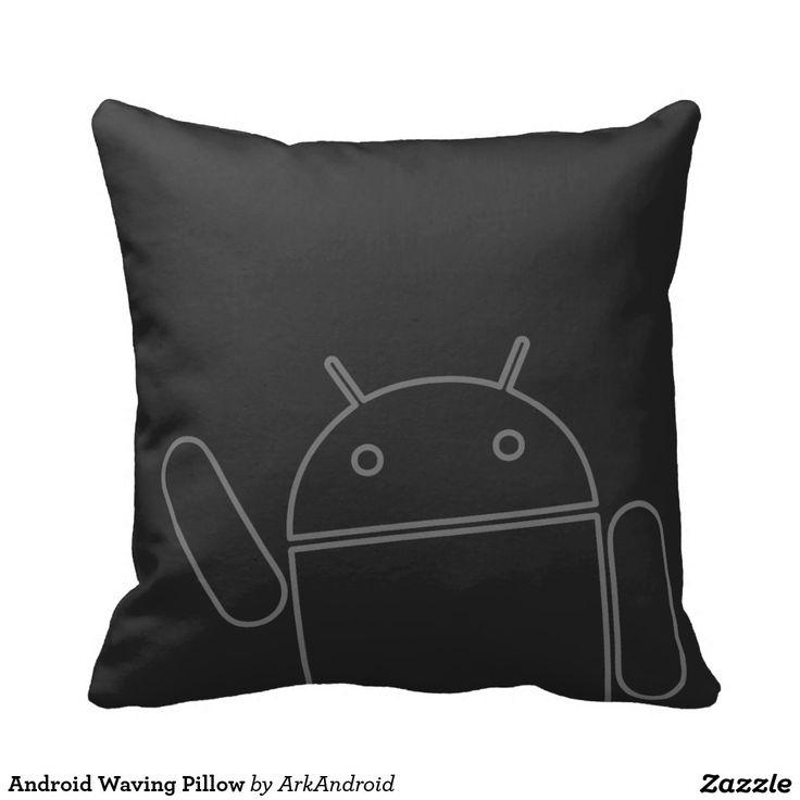 Android Waving Pillow, home decor, decoración. Regalos, Gifts. #cojín #pillow