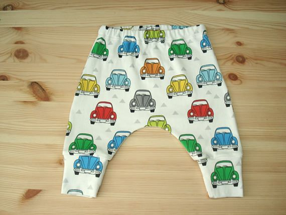 Retro cars Pants ORGANIC Baby clothes girls pants boys pants