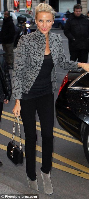 The jacket!!! Love it! In fact the whole outfit just works.  The hair too. Kudos Cameron!