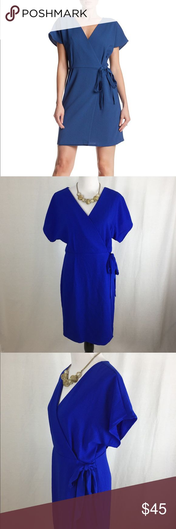 Bobeau Crepe Wrap Dress Nwt Electric Blue Wrap Dress Size