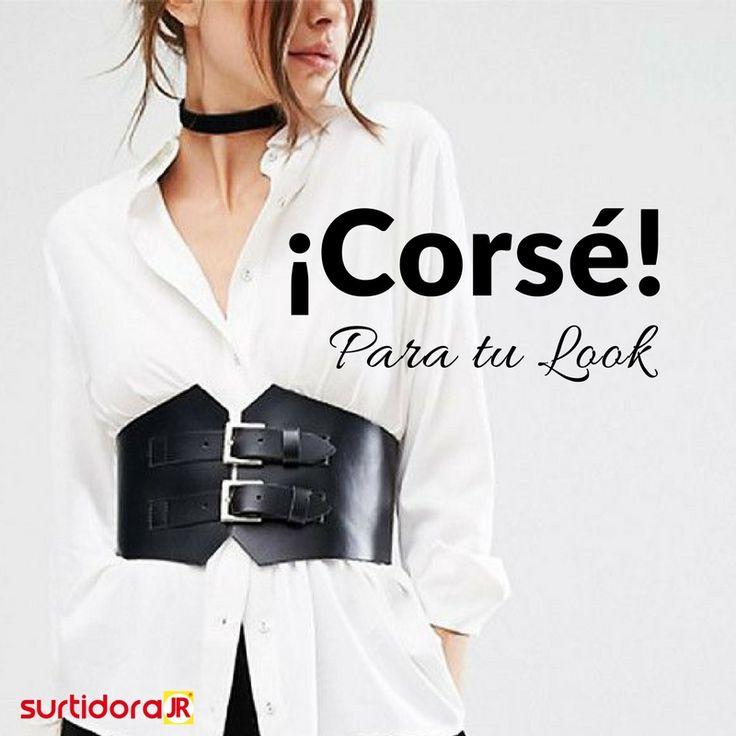 ¡Corsé! Dale forma a tu cintura y un giro diferente a tu look, puede ir sobre vestidos, abrigos o camisas ¡No hay reglas! Sólo llévalo con toda la actitud