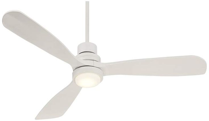 "52"" Casa Delta-Wing White Outdoor LED Ceiling Fan - #9C691 